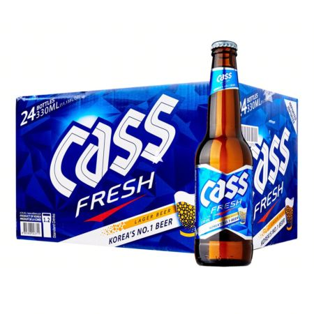 Cass Fresh Beer 330ml 4.5% Alc./Vol (24 Bottles)