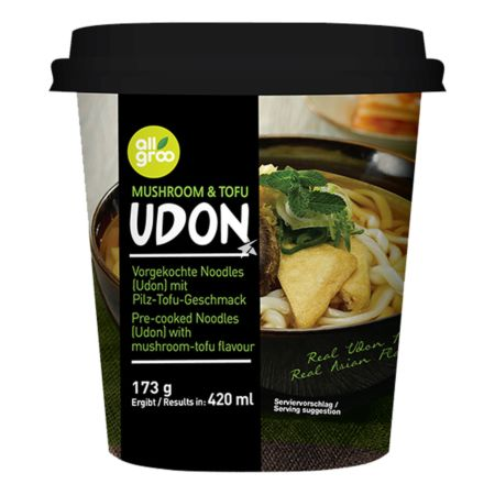 Allgroo Cup Udon Mushroom and Tofu Flavour 173g