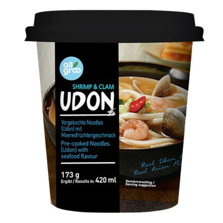 Allgroo Cup Udon Shrimp and Clam Flavour 173g