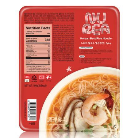Young Poong Nurea Dried Rice Noodle - Spicy 100g