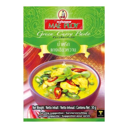 Mae Ploy 綠咖哩醬 50g (Pack of 12)