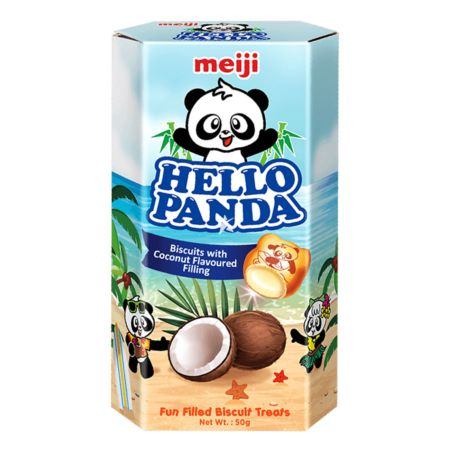 Meiji Hello Panda Biscuit with Coconut Flavoured Filling 50g