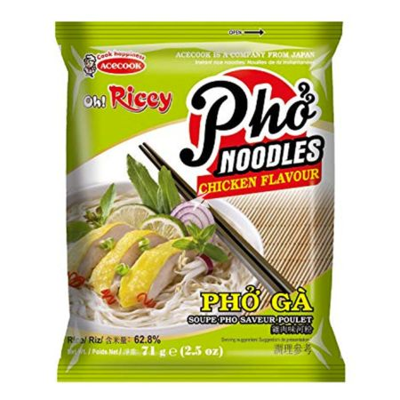 Acecook Oh! Ricey Pho Noodles Chicken Flavour 71g