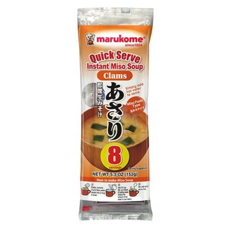 Marukome Quick Serve Instant Miso Soup Clams Flavour 8pcs 152g