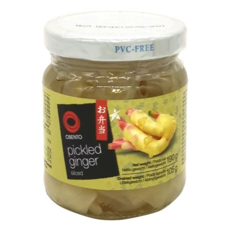 Obento 薑片 Drained Weight 105g Net Weight 190g