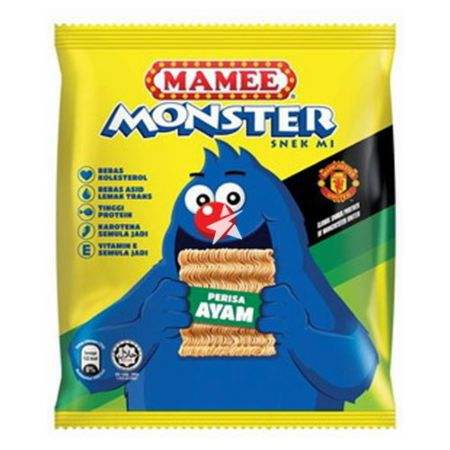 Mamee Monster Noodle Snack - Chicken Flavour (8x25g) 200g