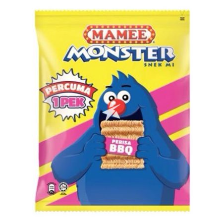 Mamee Monster Noodle Snack - BBQ Flavour (9x25g) 225g