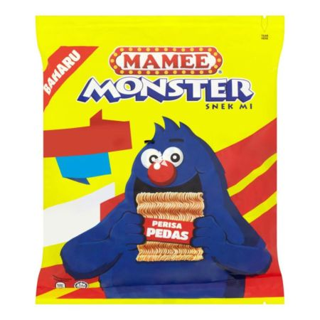 Mamee Monster Noodle Snack - Spicy (Pedas) Flavour (9x25g) 225g