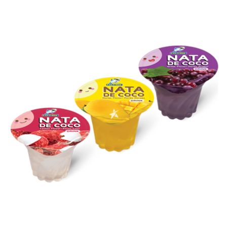 Captain Dolphin Nata de Coco Jelly Drink Mixed Flavours (Lychee/Mango/Grape) (180g*3cups) 540g