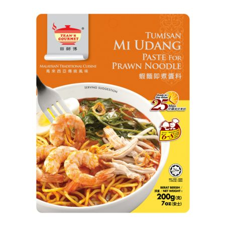 Tean's Gourmet Tumisan Mi Udang Paste for Prawn Noodle (7oz) 200g