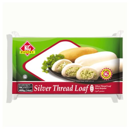 KG Pastry Silver Thread Loaf Plain 4 Pieces 400g