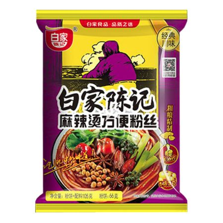 Baijia Instant Sweet Potato Vermicelli - Hot Soup Flavour 105g