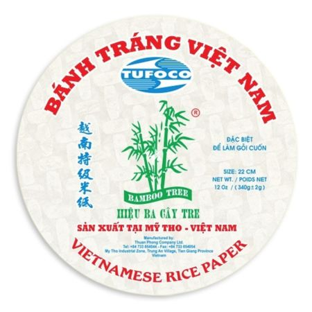 Bamboo Tree Vietnamese Rice Papper 22cm  (Round) 340g