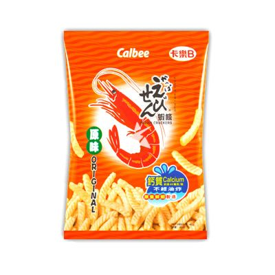 [Old Barcode] Calbee Prawn Crackers -  Original Flavour 80g