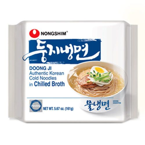 Nongshim Doong Ji Authentic Korean Cold Noodles in Beef Broth 161g