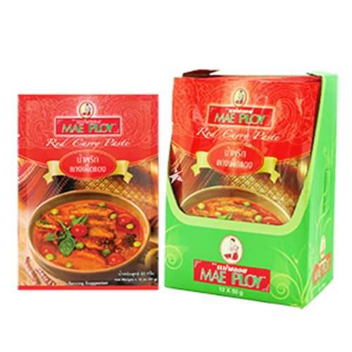 Mae Ploy Red Curry Paste 50g (Pack of 12)