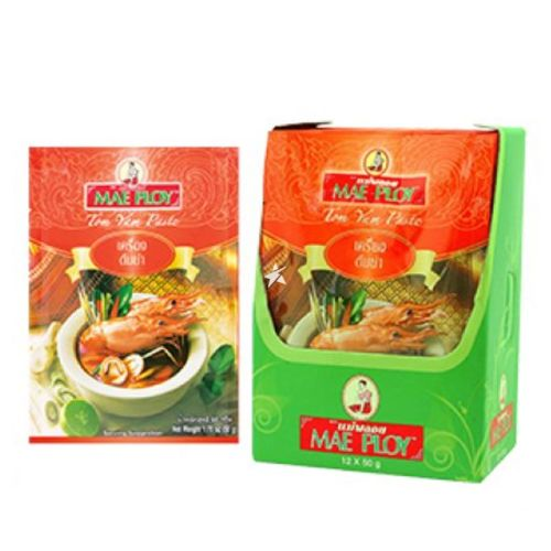 Mae Ploy Tom Yum Paste 50g (Pack of 12)