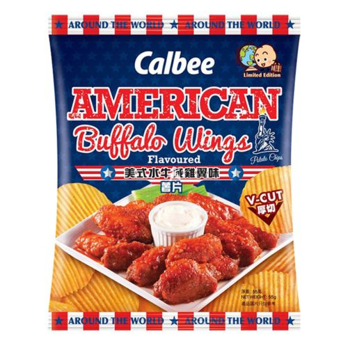 Calbee Potato Chips - American Buffalo Wings Flavoured (V-Cut) 55g