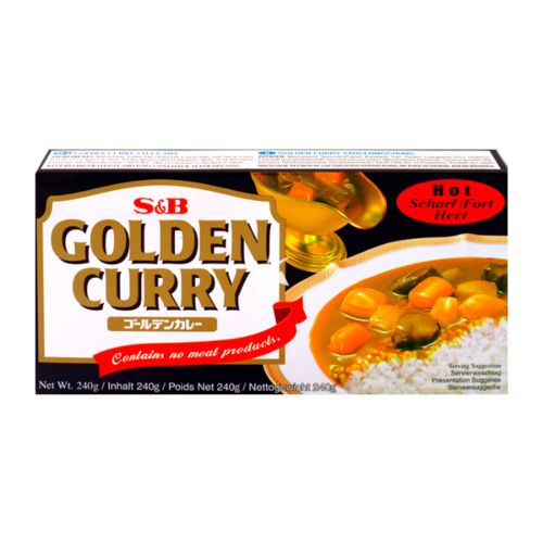 S&B Golden Curry Sauce Mix - Hot (No Meat Contained) 240g