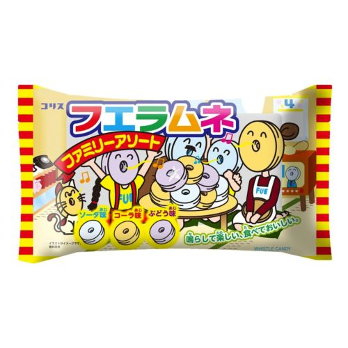 Coris Fue Ramune Whistle Candy Assorted Pack 110g