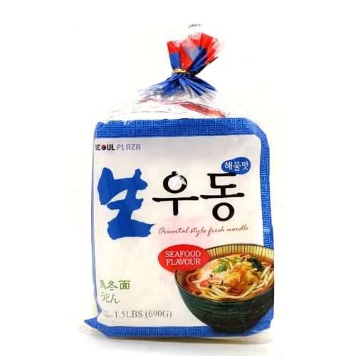 Seoul Plaza Oriental Style Fresh Udon Noodle Seafood Flavour (Pack of 3) 690g