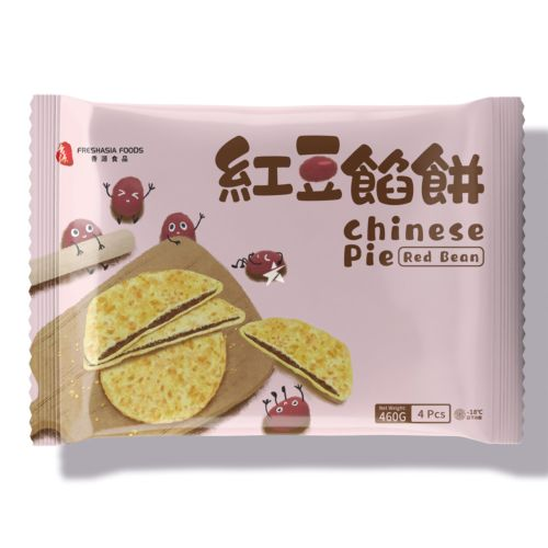 Fresh Asia Chinese Pie Red Bean 4 Pieces 460g