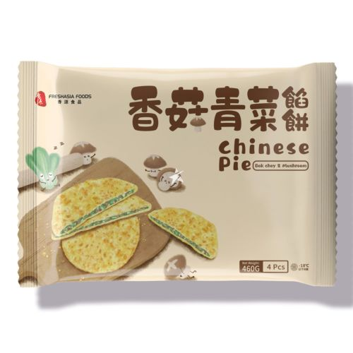 Fresh Asia Chinese Pie Bok Choy & Mushroom 4 Pieces 460g
