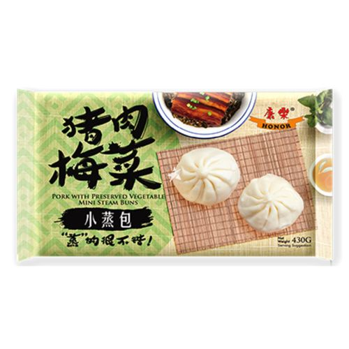 Honor Mini Steam Buns 6 Pieces - Pork with Preserved Vegetable 430g