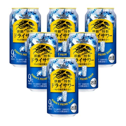 Kirin The Strong Prime Sour - Dry Strong (Carbonated) 350ml 9% Acl./Vol (6 Cans)
