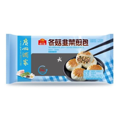Guangzhou Restaurant Likoufu Mushroom and Chives Fried Bun 8 Pieces 240g