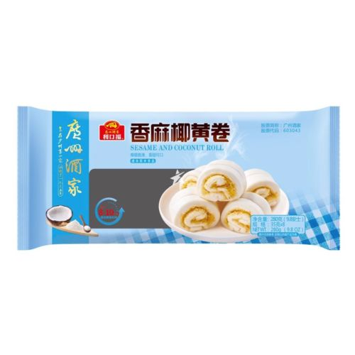 Guangzhou Restaurant Likoufu Sesame and Coconut Roll 8 Pieces 280g
