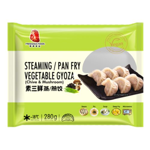 Fresh Asia Steaming / Pan Fry Vegetable Gyoza 280g