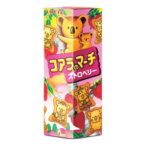 [Old Barcode] Lotte Koala's March Biscuits - Strawberry Flavour 49g