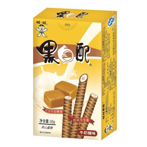 [Old Barcode] Want Want Wafer Roll - Milk 60g
