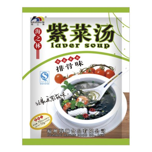 [Old Barcode] Haizhilin Laver Soup Spare Rib Flavour 80g