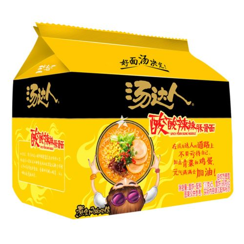 Unif Tangdaren Instant Noodle - Spicy Pork Bone Flavour (Pack of 5) 650g