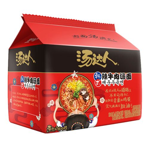 Unif Tangdaren Instant Noodle - Korean Style Spicy Beef Soup Flavour (Pack of 5) 625g