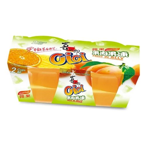 Xizhilang 2 Cups Mixed Fruit Jelly (200g*2 Cups) 400g