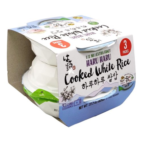 Haruharu Cooked White Rice 210g (Pack of 3)