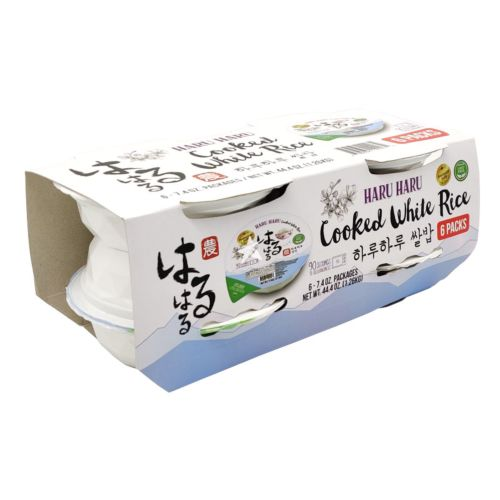 Haruharu Cooked White Rice 210g (Pack of 6)
