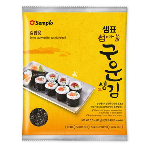 Sempio Dried Seaweed for Sushi and Roll 10 Sheets 20g