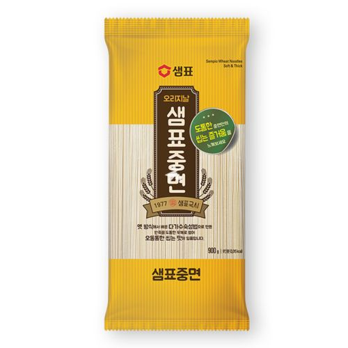 Sempio Wheat Noodles, Medium Round 900g