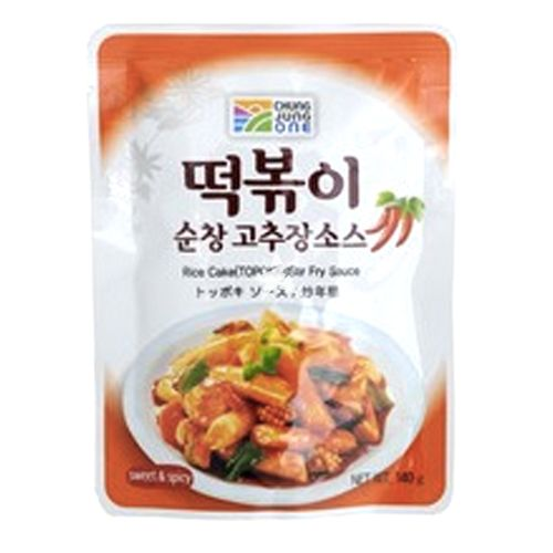 Daesang Chung Jung One Rice Cake (Topokki) Stir Fry Sauce Sweet & Spicy 140g