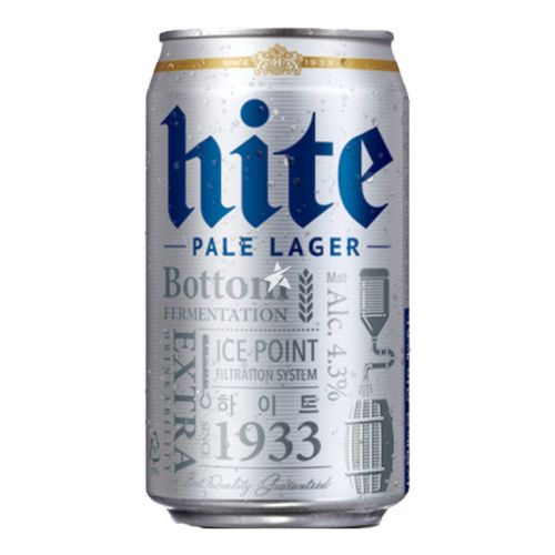 Jinro Hite Pale Lager Can 355ml ABV 4.3%