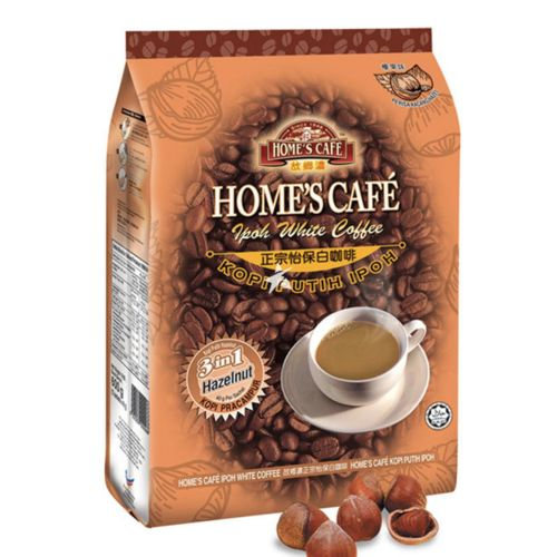 Home's Cafe Ipoh 3in1 White Coffee Hazelnut Flavour 15 x 40g