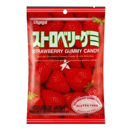 Kasugai Pure Strawberry Gummy Candy 107g