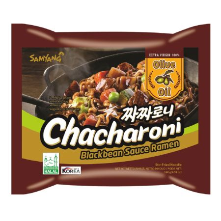 Samyang Chacharoni (Stir Fry Black Bean Sauce Noodle Soup with Olive Oil) 140g