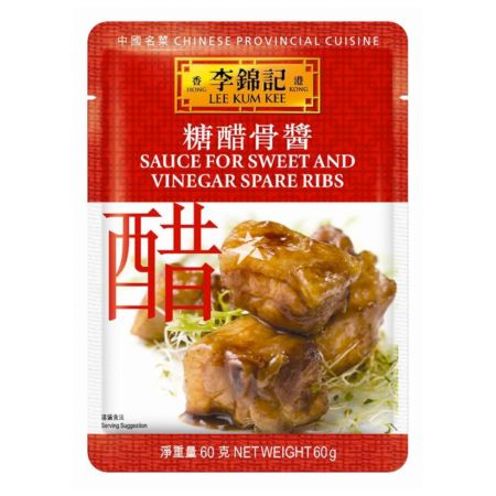 Lee Kum Kee Convenient Sachet Sauces - Sweet and Vinegar Spare Ribs 60g