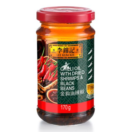 Lee Kum Kee Chilli Oil with Dried Shrimps and Black Beans 170g