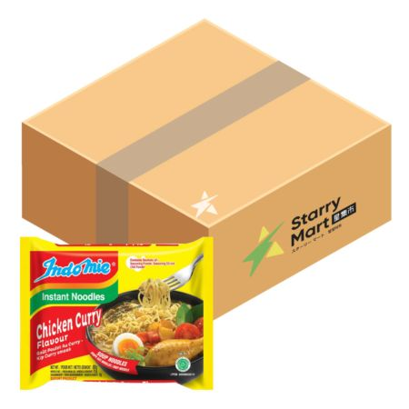 Indomie Soup Noodles - Chicken Curry Flavour 80g (Pack of 40)